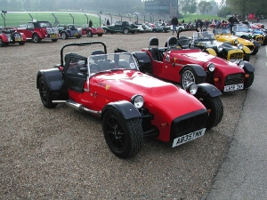 Avon - Tiger Sportscars. Tiger line up at Brands