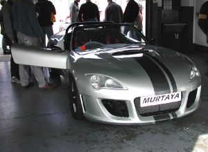 Murtaya Roadster - Murtaya Sports Cars Limited. Murtaya in pit garage