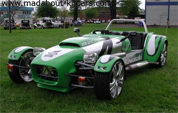 DJ sportscars - Rush. Kawasaki powered Dax Rush