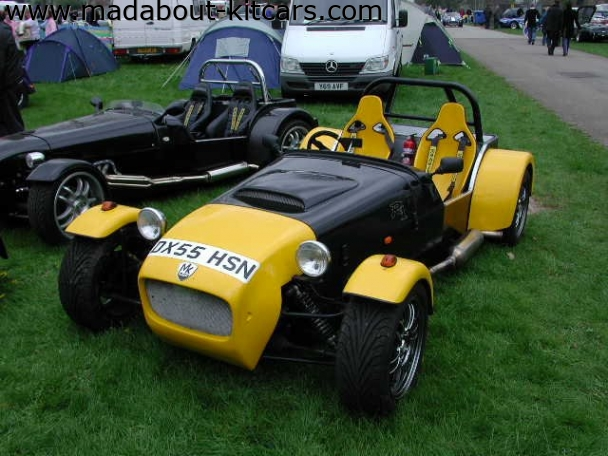 MK Sportscars - MK Indy. Pair of Indys on club stand