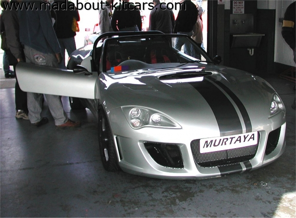 Murtaya Sports Cars Limited - Murtaya Roadster. Murtaya in pit garage