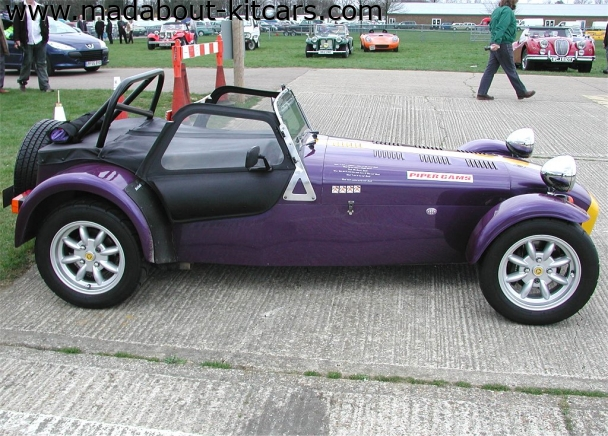 Caterham cars - Super 7. Side profile with side windows