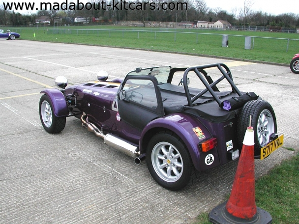 Caterham cars - Super 7. Weather gear in place