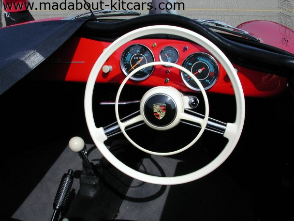 Chesil Motor Company - Speedster. Period steering wheel