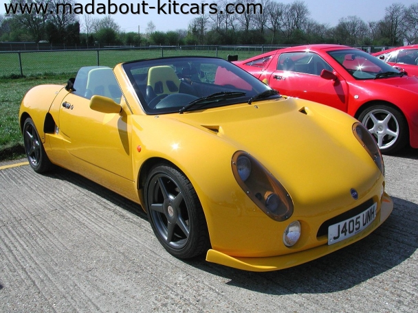 GTM Cars Ltd - GTM Spyder. Yellow Spyder with front skirt