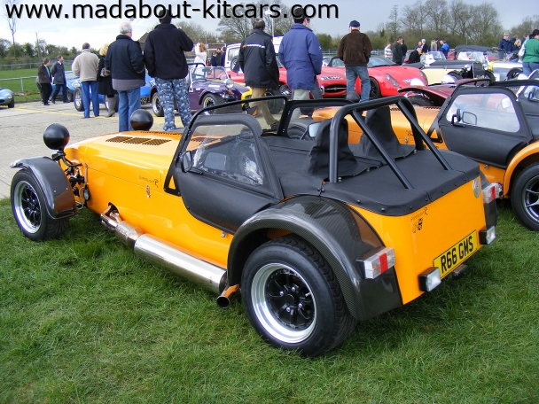 Caterham cars - Superlight R300. Full tonneau cover in use