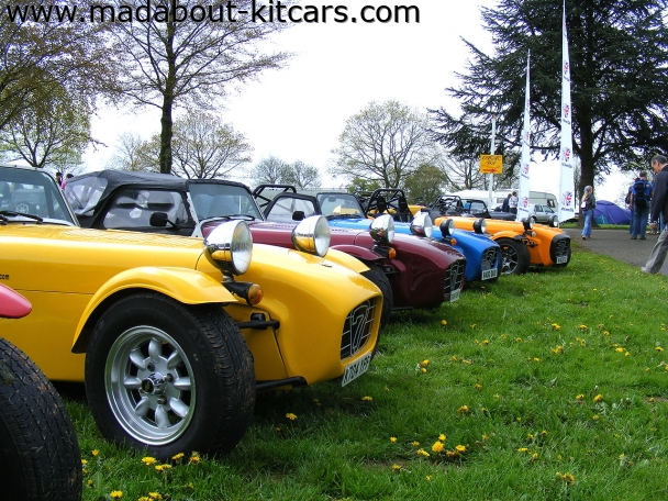 Caterham cars - Super 7. Nose cone lineup