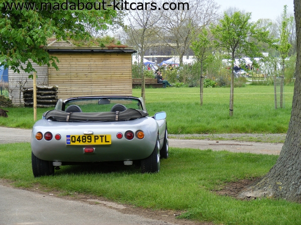 Fisher sportscars - Fury. Rear end of silver Fury