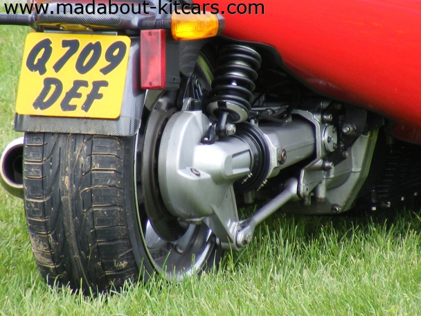 Grinnall Specialist cars - Scorpion. Close up of rear drive wheel
