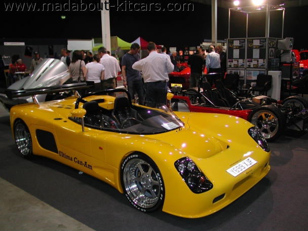Ultima Sports Ltd - Can-Am. Yellow Can Am at Stoneleigh