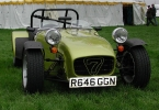 Caterham 7 with aero shields