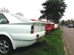Quantum Sports Cars Ltd - Coupe. Rear end line up of coupes