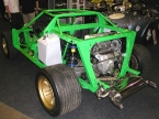 Hawk cars Ltd - HF series. Rear view of rolling chassis