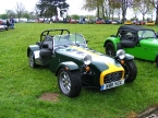Caterham cars - Super 7. Lotus colours on this Caterham