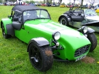 Caterham cars - Super 7. Green Caterham at Stoneleigh